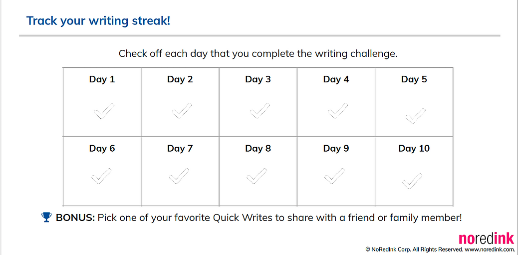 Daily Quick Write Challenge