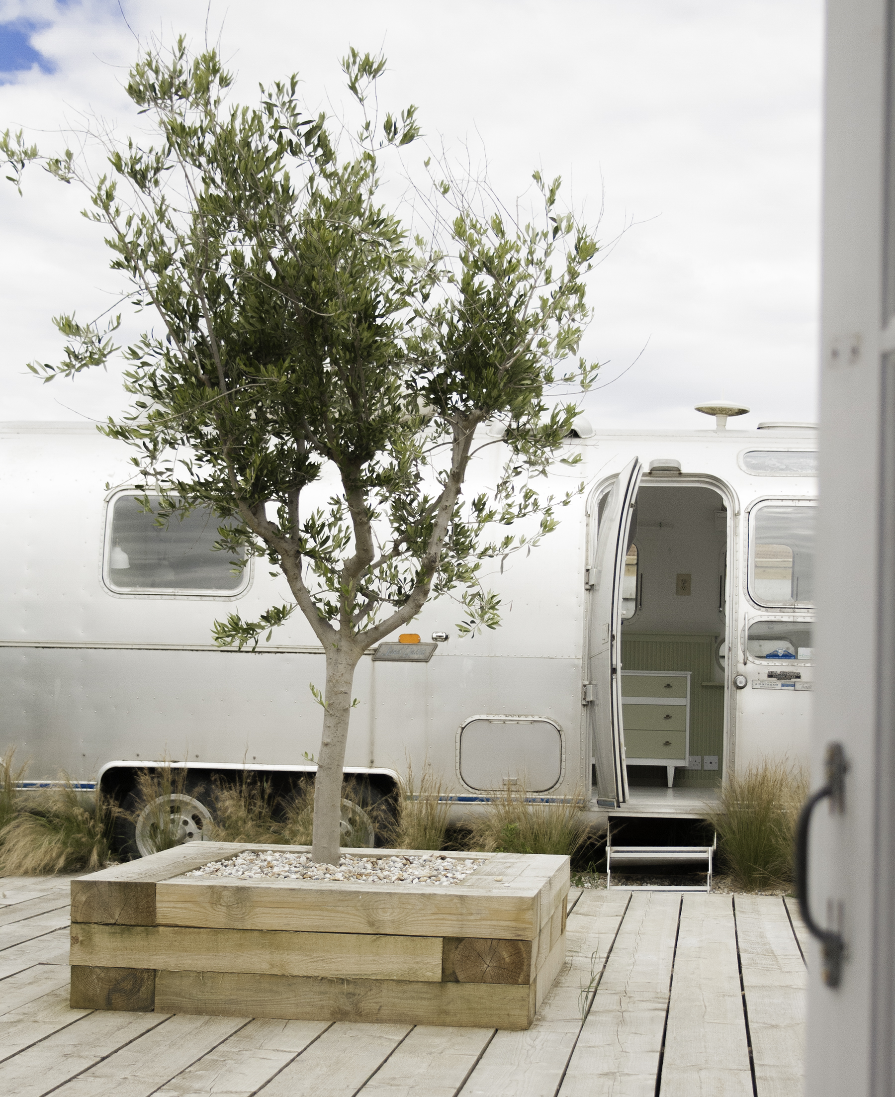 Airstream from house