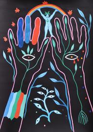 Alchemist, Acrylic & gouache on paper, 21 x 29.7 cm