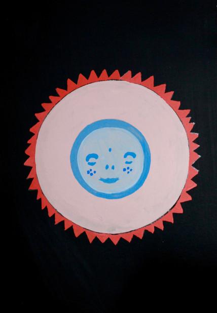 The sun face