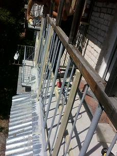 Ремонт парапета, ремонт плиты