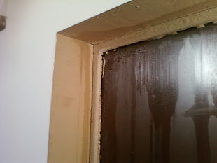 Промерзание металлической двери лед на двери