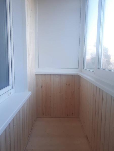 Внутренняя отделка балкона город Серпухов