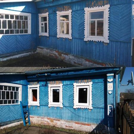 Замена деревянных окон в старом доме Никифорово
