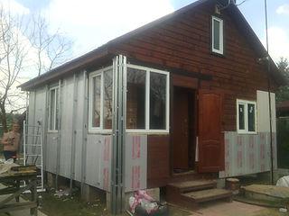 Пример отделки дома САЙДИНГОМ. До и после.