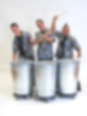 Stomp Style drummers, Trash can trio