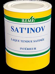BEMR SAT'INOV est une peinture satinée en phase aqueuse, d'aspect tendu.