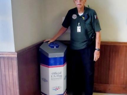 Sequoyah County receives flag retirement box