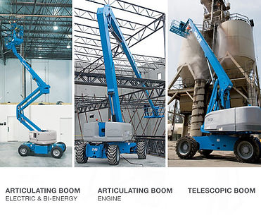 Boom Lift, Articulating boom, telescopic boom
