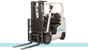 Nissan UniCarriers CF platinum II LPG Cushion Forklift front