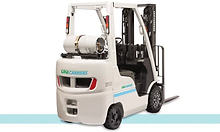 Nissan UniCarriers CF platinum II LPG Cushion Forklift back