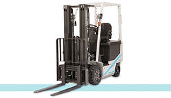 UniCarriers Nissan BX Ellectric Sit Down Rider 4 wheel forklift front