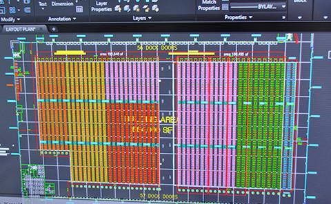 Racking layout