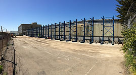 Cantilever racks, Structural installed outside
