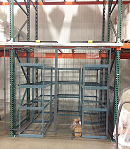 Wirecrafted fence secure protector for pallet rack