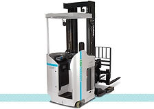 Nissan UniCarriers SRX stand up reach forklift back