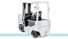 UniCarriers Nissan BX Ellectric Sit Down Rider 4 wheel forklift back