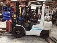 Nissan PF70 sit down pneumatic forklift