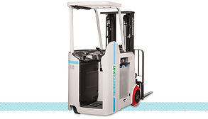 Nissan UniCarriers Stand Up Counterbalanced SCX Forklift back.jpg