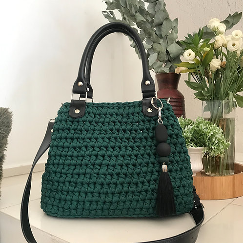Bolsa Helena | Verde com Preto