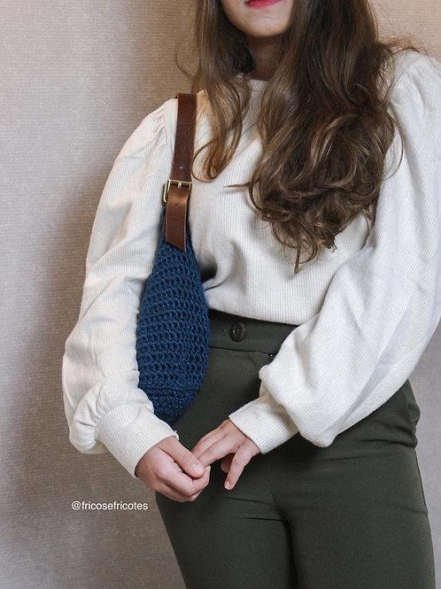 Bolsa Lili com alça de couro curta OU tiracolo