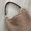 Thumbnail: Bolsa Lili bege com alça de couro