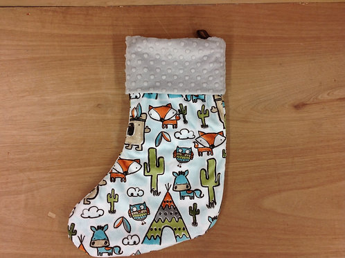 Christmas Stocking- Animals/ Silver  *LIMITED TIME*