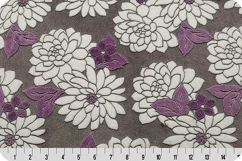 Ibiza Violeta Flowers. Violet Flowers. Ibiza Violeta Minky Fabric