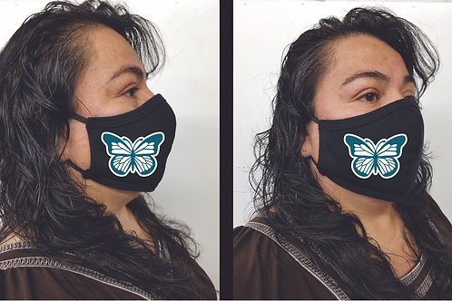 Black Mask (Butterefly) Face Mask