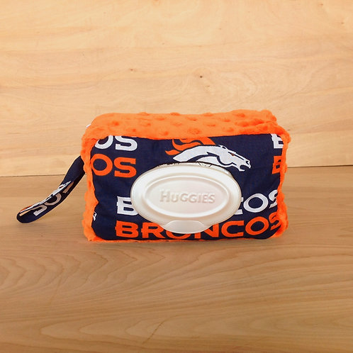 Wipe Case Covers- Broncos/ Orange