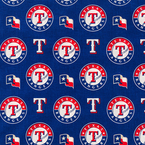 MLB Texas Rangers Baseball Prints 100% Cotton Fabric