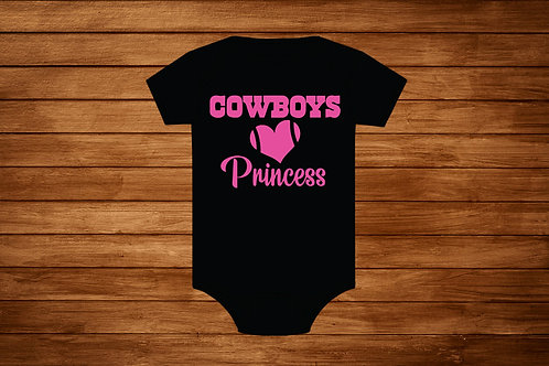 Onesie Cowboys Princess. NFL. Pink Cowboys. Girl Cowboys .Bodysuit.