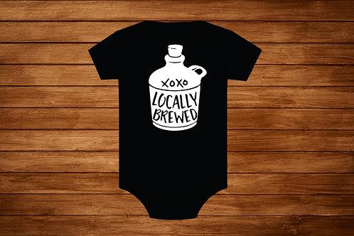 Baby Onesie. Locally Brewed. Custom Onesie .Bodysuit.