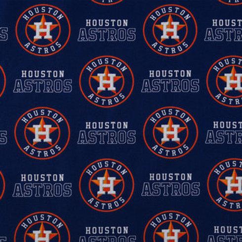 MLB Houston Astros Baseball Prints 100% Cotton Fabric
