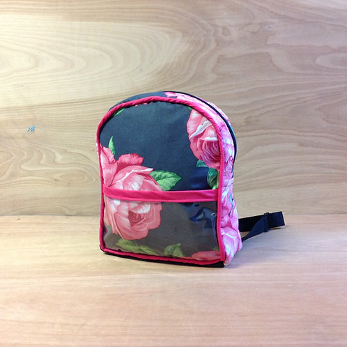 Kid's Mini Backpack- Bohemian Roses/ Fushcia