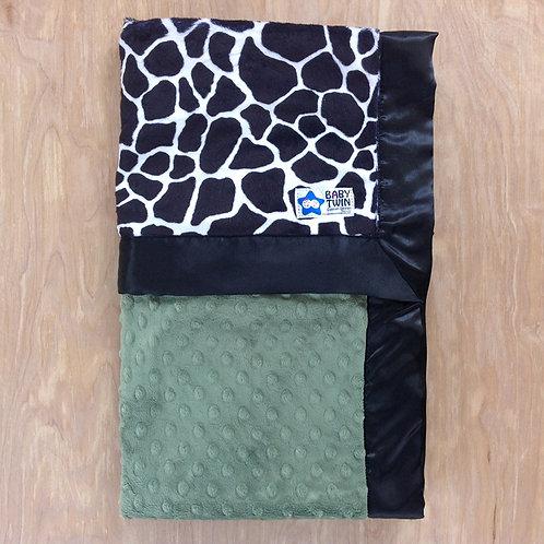 Baby blanket Black  Giraffe , Receiving blanket black giraffe .