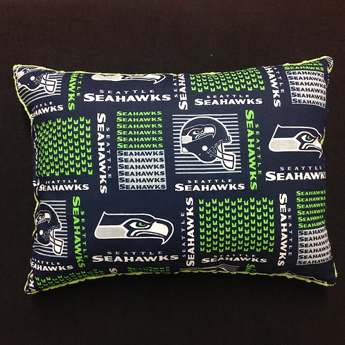 Travel Memory foam Pillow- Seahawks/ Lime