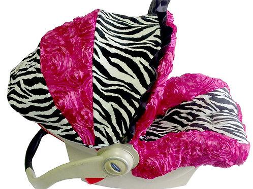 Zebra Hot Pink Rossette