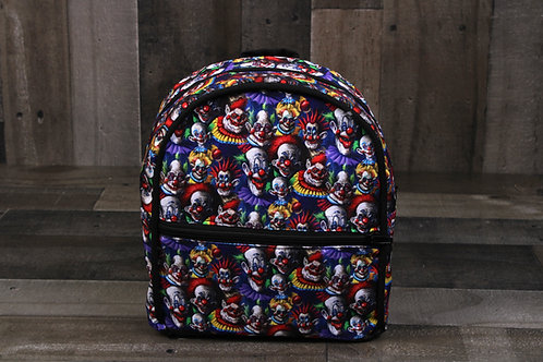 Mini Backpack- Clowns from Outer Space