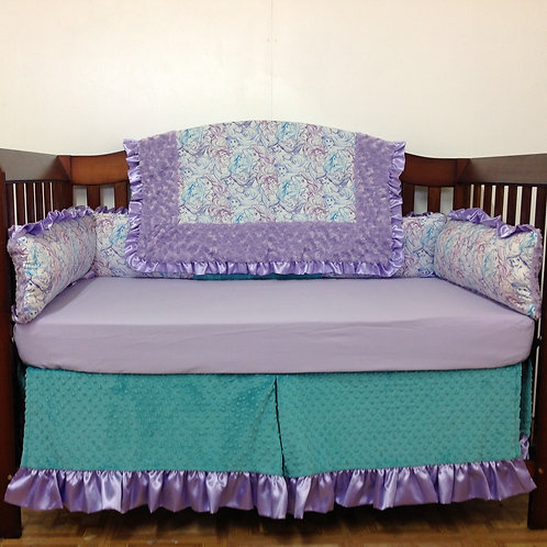 Little Mermaid Crib Set. Little Mermaid crib bedding. Little mermaid nursery.
