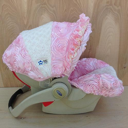 Pink Rossette/ Ivory