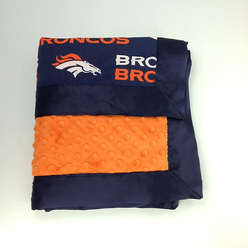 30x36 Baby Blanket- Denver Broncos/ Orange