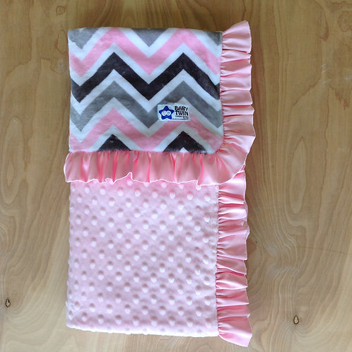 Reciving blanket Chevron Blush Silver,Baby blanket Chevron.