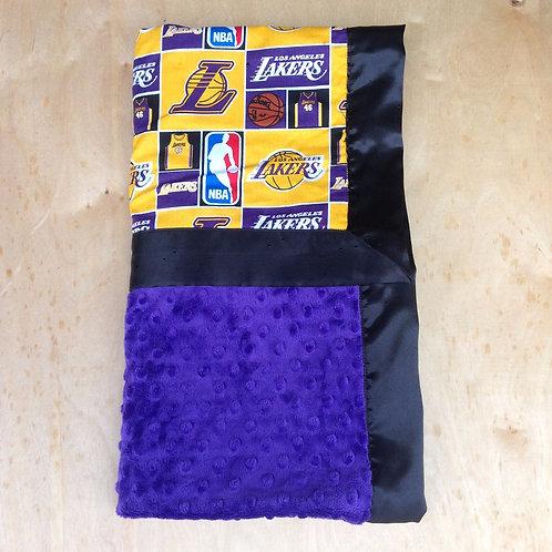 Baby blanket LA Lakers , Receiving blanket Lakers , car seat blanket .