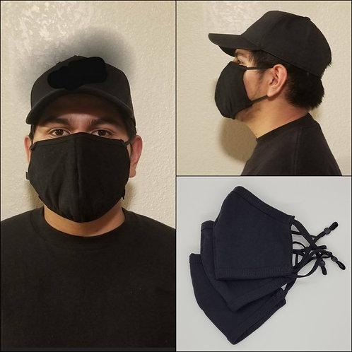 3 Black Face Masks (3 Masks)