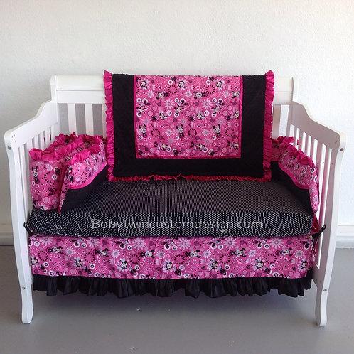 Crib Set Minnie Mouse Pink,Nursery Bedding Minnie,Home & Living.