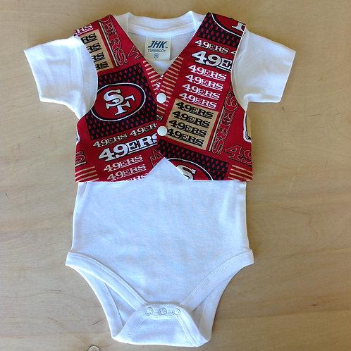 SF 49ers Stripes/ White
