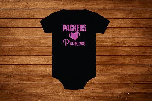 Baby Onesie. Packers Princess. NFL. Green bay Packers