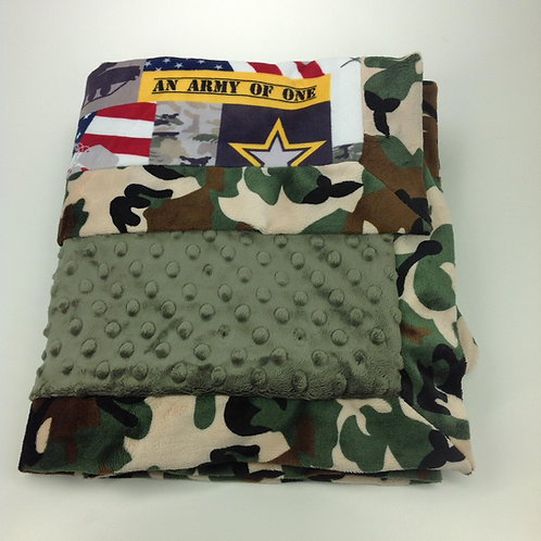 30x36 Baby Blanket- Army Camo/ Green