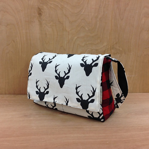 Handbags- Black Deer Heads